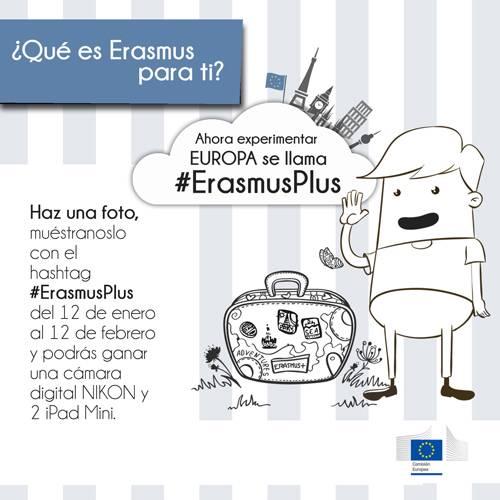 #ErasmusPlus en un click  Nuevo Concurso en Instagram