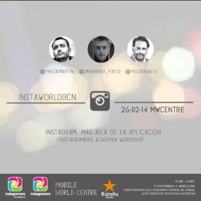 Instagramers Academia Third Mobile Photography Workshop in Barcelona during World Mobile Congress