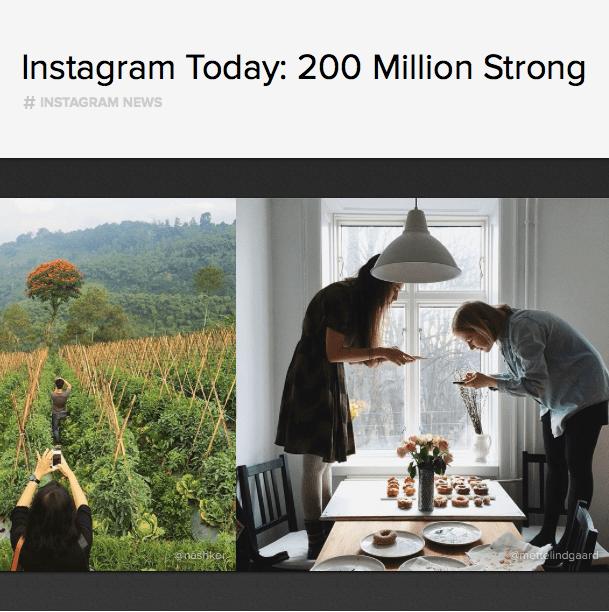 Instagram consigue sus primeros 200 millones de usuarios