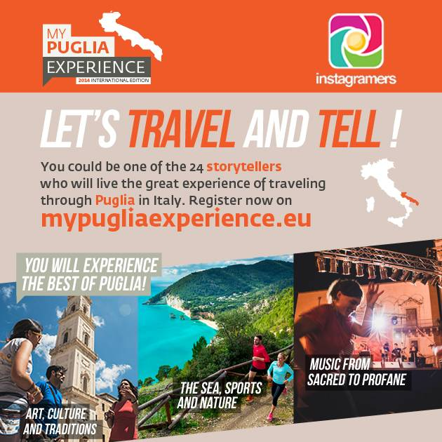 Participate to My Puglia Experience and become an official Storyteller during one week!