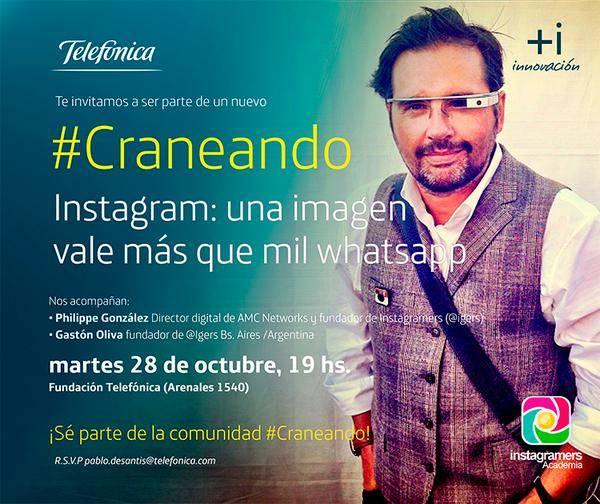 #Craneando , una Conferencia sobre Instagram en Fundación Telefónica Buenos Aires