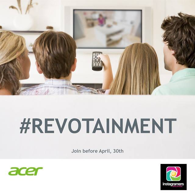 Join the #Revotainment contest with Acer on Instagram!