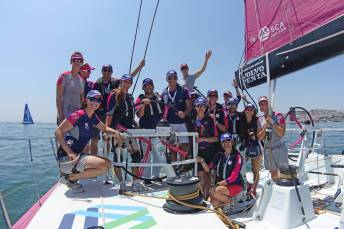 5 June 2014 Team SCA Volco Ocean Race, Lisbon.ProAm 3 Guests onboard