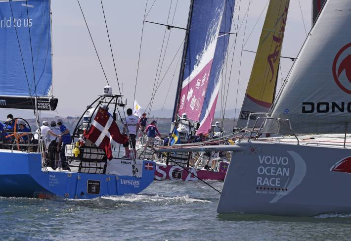 2 June 2014 Team SCA Volco Ocean Race, Lisbon. Practise Race and ProAm 1