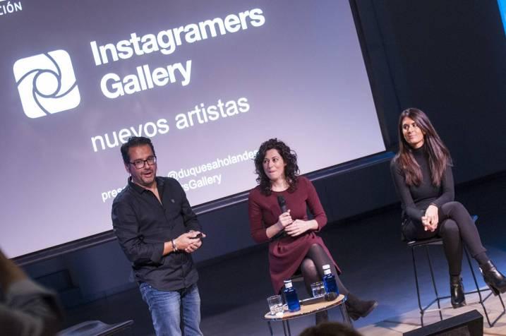 @philgonzalez with Instagramers Galery artists @nazaret @lauraponts