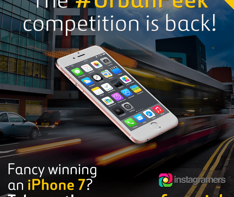 Win a brand new iPhone 7 by taking part in our #UrbanPeek instagram competition