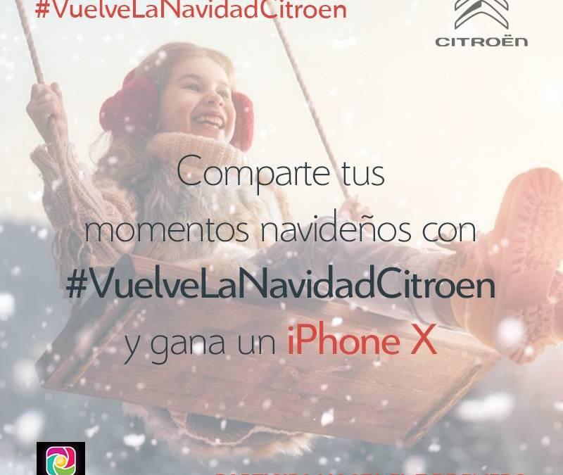 ¡Participa en #VuelveLaNavidadCitroen y gana un iPhone X!