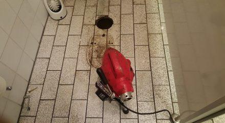 Reinigung eines Toilettenablaufs