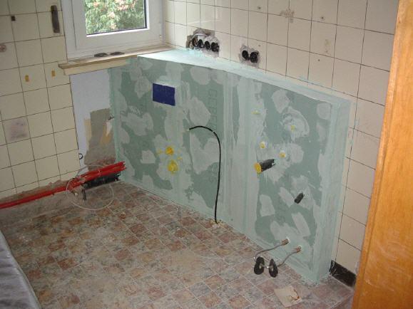 Renovierung des Badezimmers