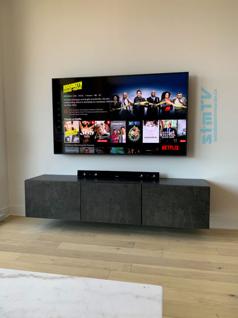 Fixer Tv Au Mur : fixer, Réalisations, StmTV, Installation, Murale, Montreal