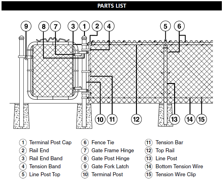 How to Install Master Halco Chain Link Fence