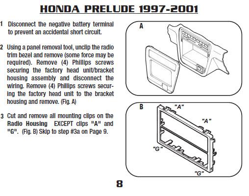 .1997-HONDA-PRELUDEinstallation Instructions