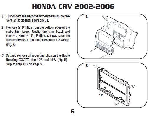 .2003-HONDA-CRVinstallation Instructions