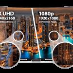 ¿Qué diferencias hay entre televisores 4K y Full HD?
