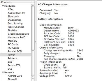 0 amperage macbook battery tracker boat trailer wiring diagram apple short life problems mac os x leopard tiger