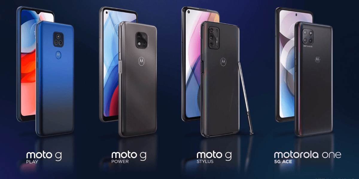 Motorola One 5G Ace and new Moto G Stylus, Moto G Power and Moto G Play announced