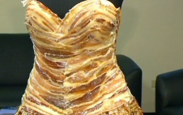 The 100 percent bacon stringlet dress