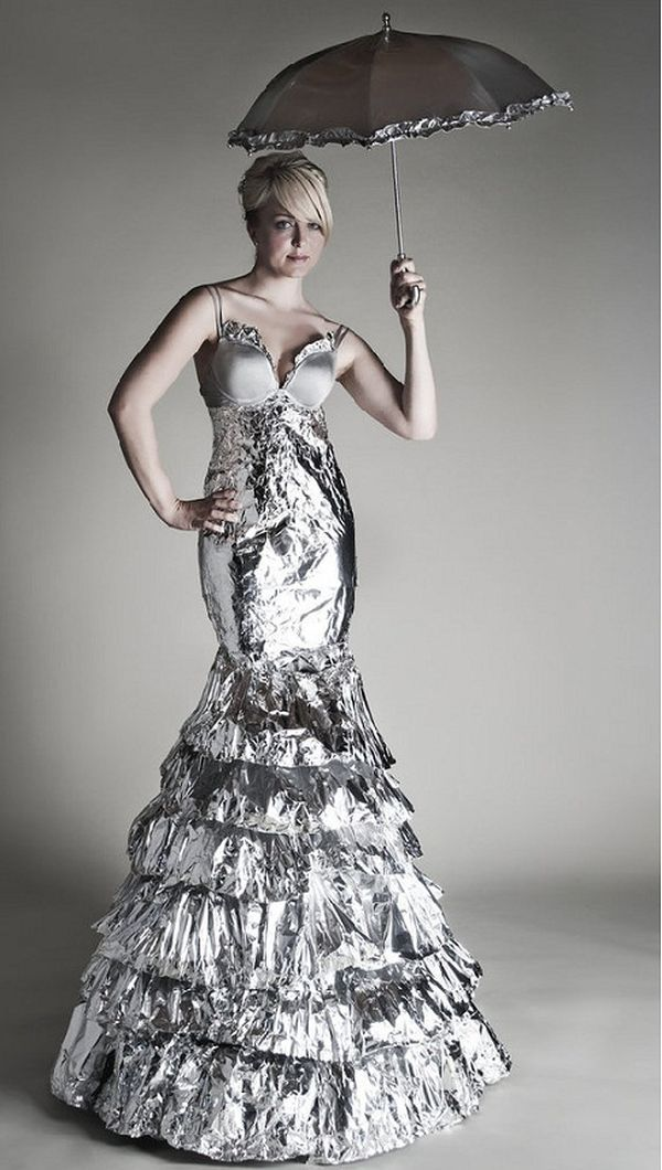 The Aluminum foil gown