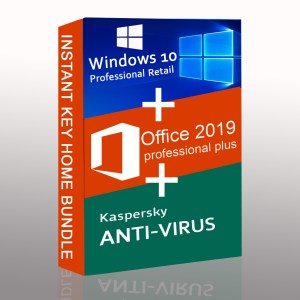 Windows 10 Pro + Microsoft Office 2019 Pro Plus + Kaspersky Anti Virus EU