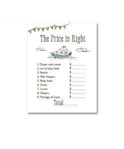 Free Printable Baby Shower Nautical Boat Ship Baby Boy