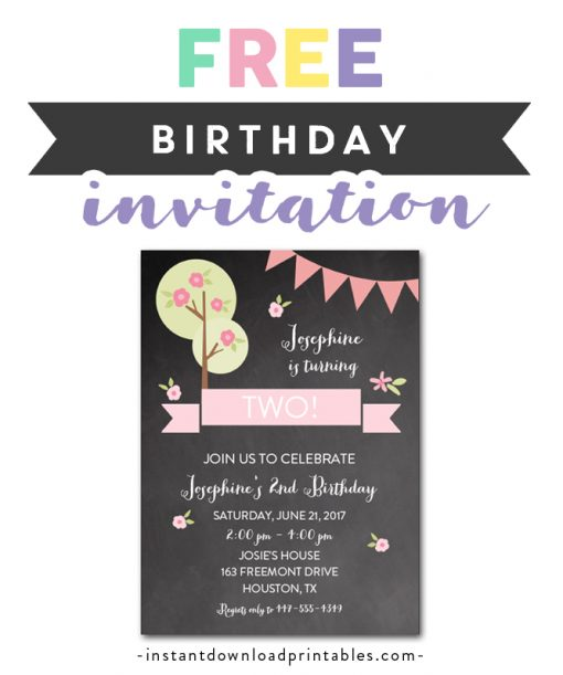 free printable editable pdf birthday