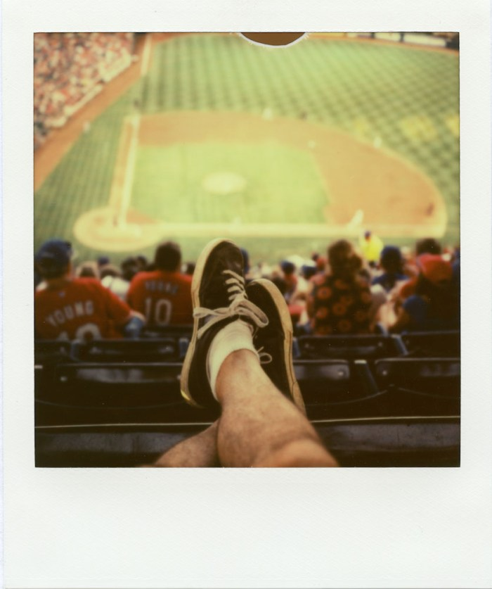 The Ballpark in Arlington - Polaroid SX-70 - Impossible Project PX-70 V4B