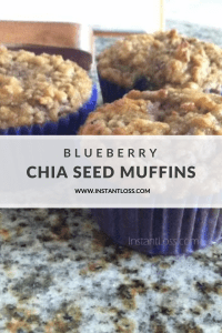 Blueberry Chia Seed Muffins instantloss.com