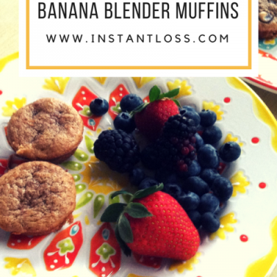 Mama's Peanut Butter Banana Blender Muffins