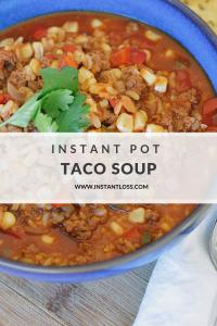 Instant Pot Taco Soup instantloss.com