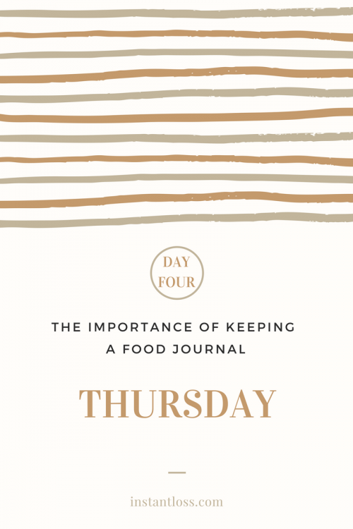 The Importance of Keeping a Food Journal- Day 4