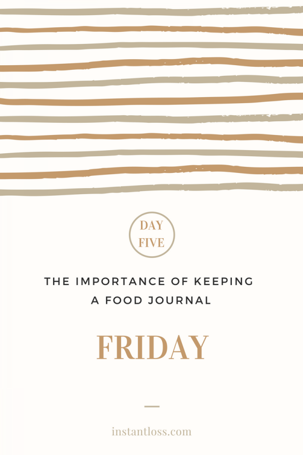 The Importance of Keeping a Food Journal- day 5 instantloss.com