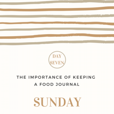 The Importance of Keeping a Food Journal- Day 7