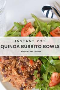 Instant Pot Quinoa Burrito Bowls instantloss.com
