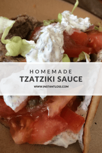 Homemade Tzatziki Sauce instantloss.com