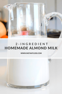 Homemade Almond Milk instantloss.com
