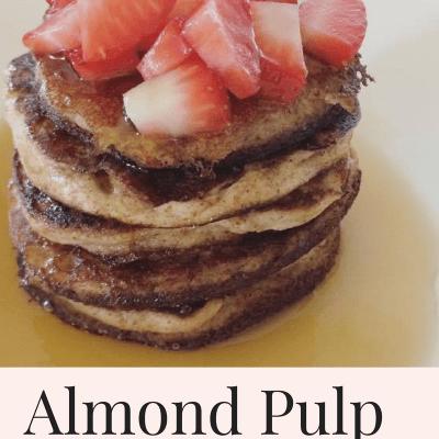 Blender Almond Pulp Pancakes