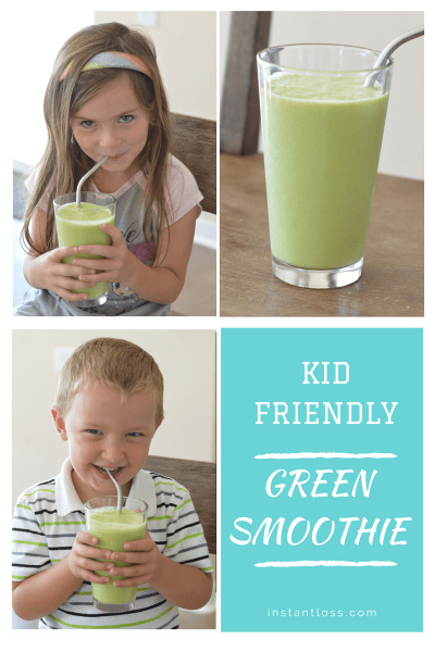 Kid Friendly Green Smoothie instantloss.com