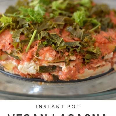 Instant Pot Vegan Lasagna