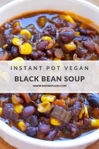 Instant Pot Vegan Black Bean Soup instantloss.com