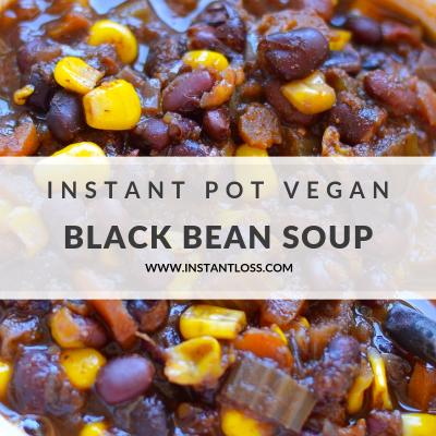 Instant Pot Vegan Black Bean Soup