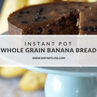 Instant Pot Whole Grain Banana Bread