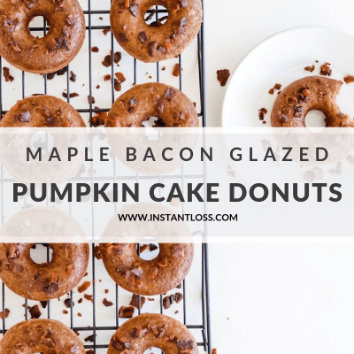 Pumpkin Cake Donuts with Maple Bacon Glaze
