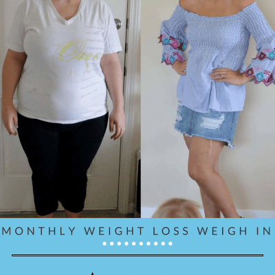 Monthly Weight Loss Weigh In {August}