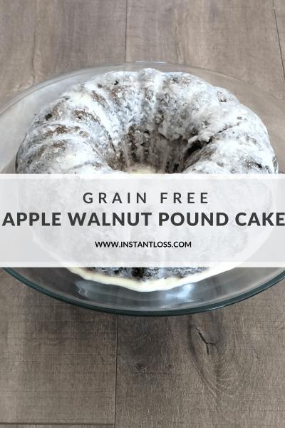Grain Free Apple Walnut Pound Cake instantloss.com