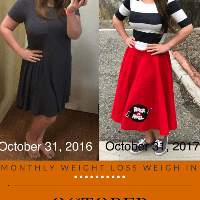 Monthly Weight Loss Weigh In {October}