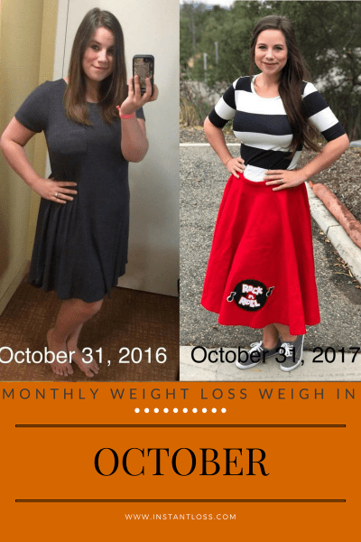 Monthly Weight Loss Weigh In October instantloss.com