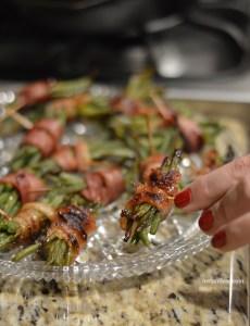 Crispy Bacon Wrapped Green Bean Bundles instantloss.com