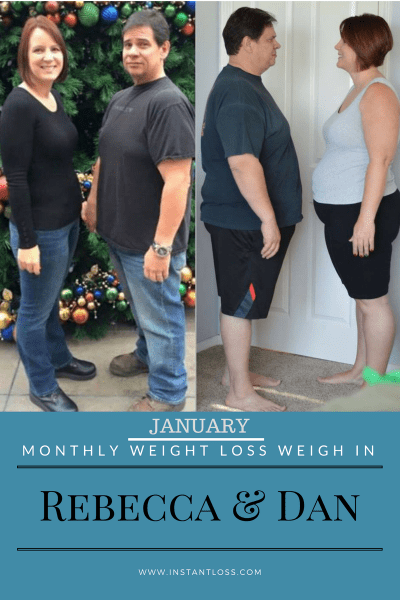 January Monthly Weight Loss Weigh In Rebecca and Dan instantloss.com