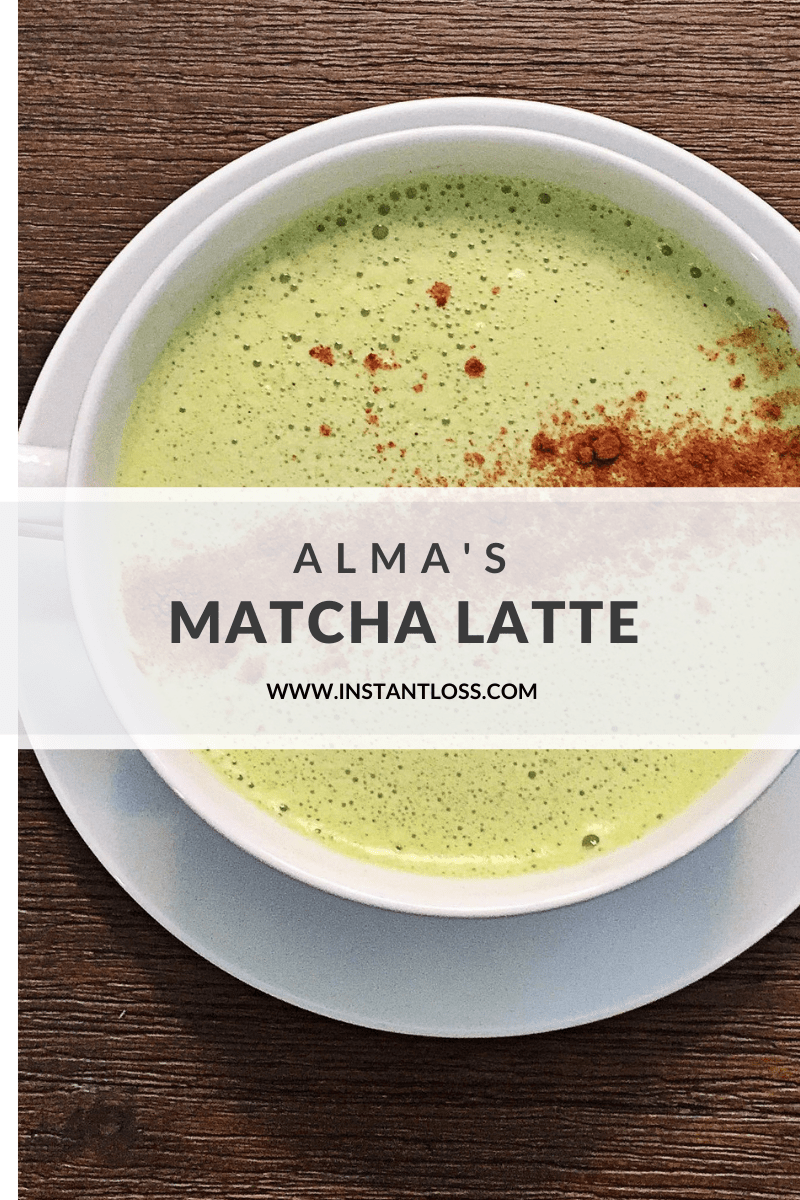Alma's Matcha Latte instantloss.com