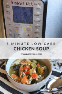 5 Minute Low Carb Chicken Soup instantloss.com